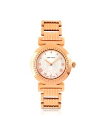 Versace Vanity Lady Rose Gold Stainless Steel Women's Watch Pink