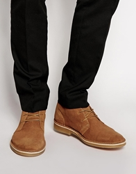 Selected Homme Leon Suede Desert Boots Tan