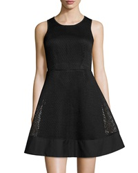 Romeo And Juliet Couture Mesh Fit And Flare Dress Black