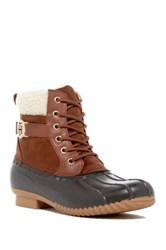 Tommy Hilfiger Roscoe Faux Fur Cuffed Boot Brown
