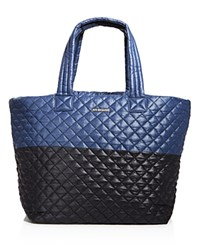 M Z Wallace Mz Wallace Large Color Block Metro Tote Black Blue