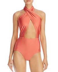 Minkpink Just Peachy Cutout One Piece Swimsuit