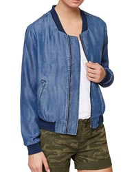 Sanctuary Baseball Collar Chambray Jacket Positano