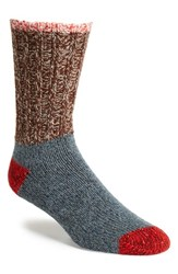 Men's Woolrich Colorblock Merino Wool Blend Socks Copper