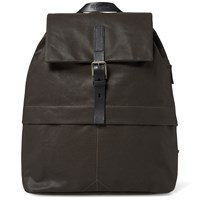 Ally Capellino Kelvin Canvas Rucksack Brown