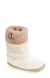 Bedroom Athletics 'Fern' Slipper Boot Women Cream