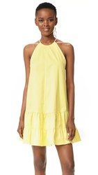 Rebecca Taylor Sleeveless Tank Dress Citron
