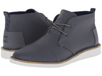Toms Mateo Chukka Boot Castlerock Grey Coated Canvas Men's Lace Up Boots Gray