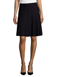 Saks Fifth Avenue Textured Flare Skirt Black
