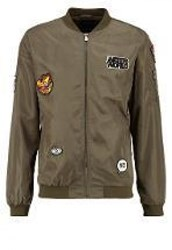 Only And Sons Onsbadge Bomber Jacket Olive Night