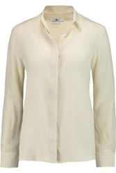 7 For All Mankind Silk Chiffon Shirt White
