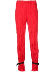 Alyx Ankle Strap Pleated Trousers Women Polyester Xs Red
