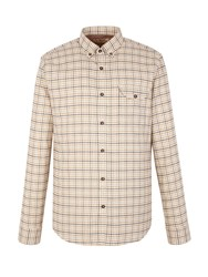 Gibson Check Tailored Fit Long Sleeve Button Down Shirt Toffee