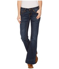 Rock And Roll Cowgirl Trousers Fit In Dark Vintage W8 4618 Dark Vintage Women's Jeans Navy
