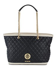 Love Moschino Borsa Nappa Quilted Tote Black