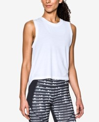 Under Armour Breathe Muscle Tank Top White