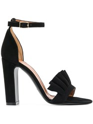 Via Roma 15 Chunky Heeled Sandals Black