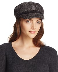 August Accessories Marled Knit Newsboy Hat Black