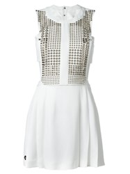 Philipp Plein 'Fallen Angel' Dress White