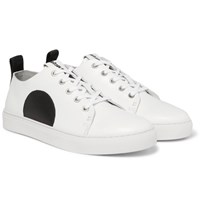 Mcq By Alexander Mcqueen Chris Panelled Leather Sneakers White