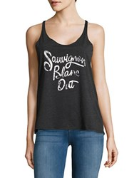 Ppla Sauvignon Blanc Text Graphic Tank Top Black