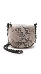 Rag And Bone Printed Python Bradbury Mini Chain Hobo Bag Fawn Python