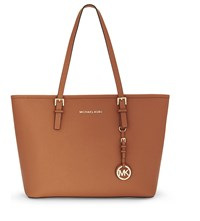 Michael Michael Kors Jet Set Travel Saffiano Leather Tote Orange