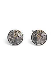 Paul Costelloe Cavendish Clockwork Cufflinks Silver