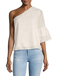 Lucca Couture Isabelle One Shoulder Cotton Top White