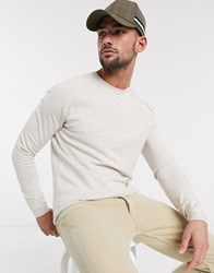 Tom Tailor Knitted Jumper In Cream Beige