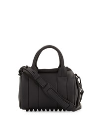 Rockie Mini Matte Leather Duffel Bag Black Alexander Wang