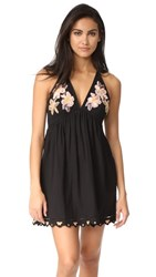 Free People Love And Flowers Dress Black