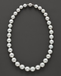 Bloomingdale's White South Sea Pearl Necklace 18 No Color