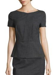 Boss Iadela Peplum Top Grey Fantasy