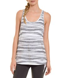Danskin Horizon Singlet Active Tank Bright White