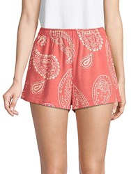 Wildfox Couture Paisley Cotton Shorts Pigment