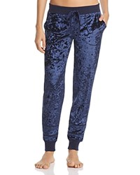 Pj Salvage Crushed Velvet Jogger Pants Navy