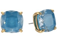 Kate Spade Enamel Small Square Studs Turquoise Earring Blue