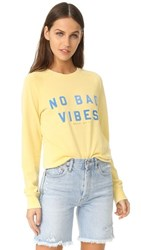 Spiritual Gangster No Bad Vibes Sweatshirt Mellow Yellow