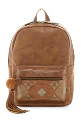 T Shirt And Jeans Natural Instinct Backpack Brown