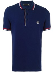 Love Moschino Peace Plaque Polo Shirt Blue