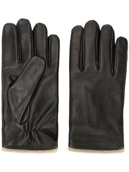 Emporio Armani Embossed Logo Gloves Brown
