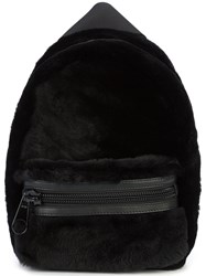 Alexander Wang Small Backpack Sheep Skin Shearling Black