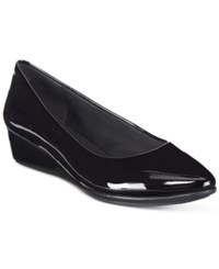 Easy Spirit Avery Wedge Pumps Women's Shoes Black Patent