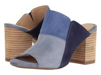 Hush Puppies Sayer Malia Powder Blue Multi Suede Women's Wedge Shoes