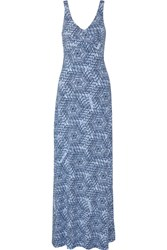 Tart Collections Mallika Printed Stretch Modal Maxi Dress Blue