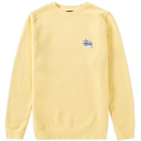 Stussy Basic Crew Sweat Yellow