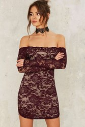 Barely There Lace Dress Red