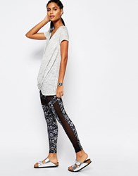 South Beach Printed Mesh Insert Legging Multi