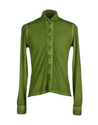 Kangra Cashmere Shirts Shirts Men Green